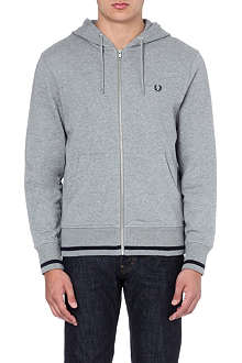 FRED PERRY Zip-up jersey hoody