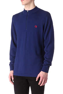 FRED PERRY Bradley Wiggins drop hem knitted jumper