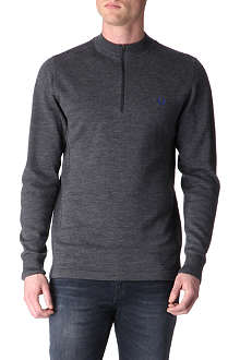 FRED PERRY Bradley Wiggins Drop-hem jumper