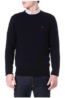 FRED PERRY Wool-blend knitted jumper