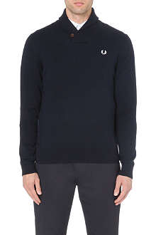 FRED PERRY Shawl-collar knitted jumper