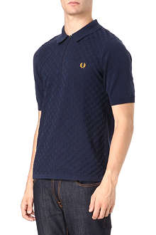 FRED PERRY Textured knit polo shirt