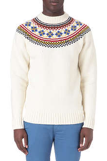 FRED PERRY Fair Isle turtleneck jumper