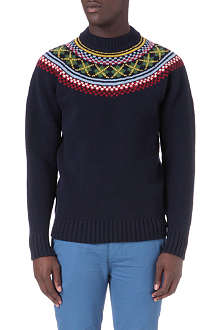 FRED PERRY Fair Isle turtle neck jumper