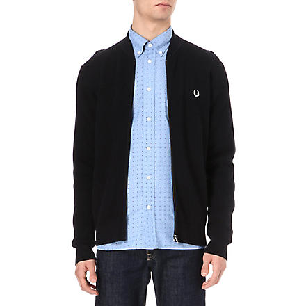 FRED PERRY Contrast-coloured cardigan (Navy