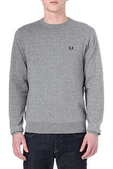 FRED PERRY Micro-dot cotton sweatshirt