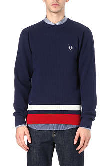 FRED PERRY Colour-block sweatshirt