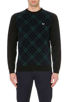 FRED PERRY Tartan front jumper
