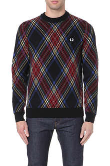 FRED PERRY Tartan wool jumper