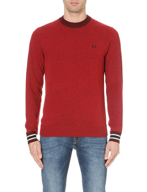 FRED PERRY Flecked knitted jumper