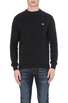 FRED PERRY Logo-detailed knitted jumper