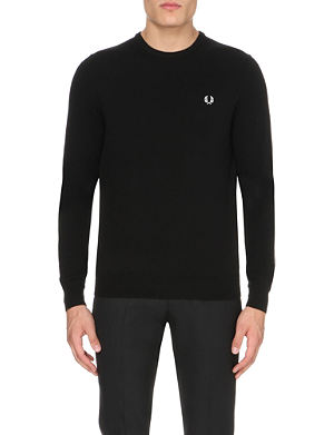 FRED PERRY Crew-neck wool jumper