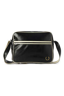FRED PERRY Striped messenger bag