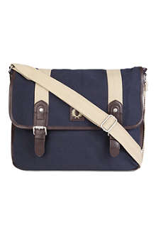 FRED PERRY Canvas satchel bag