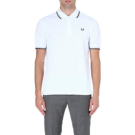 FRED PERRY Classic twin-tipped polo shirt (White