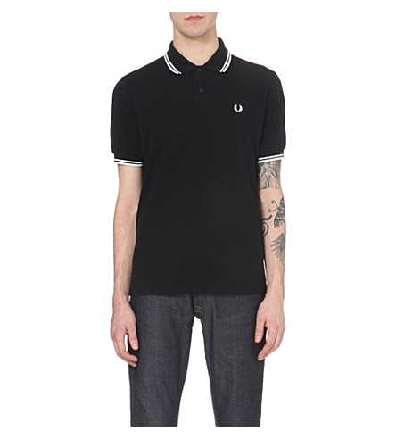 FRED PERRY Classic twin-tip polo shirt (Black