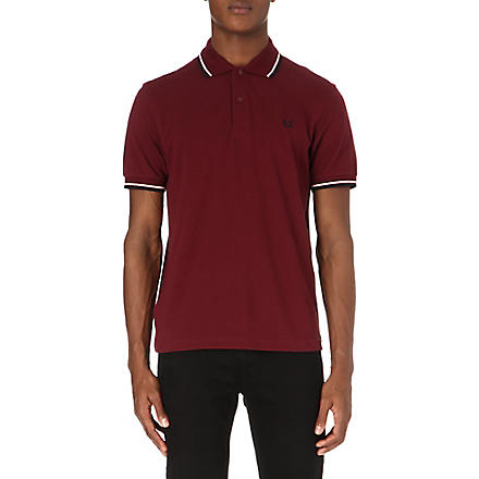 FRED PERRY Classic twin-tip polo shirt (Burgandy