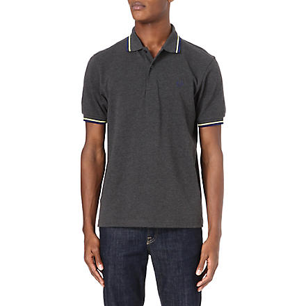 FRED PERRY Classic twin-tipped polo shirt (Graphite