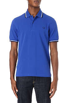 FRED PERRY Classic-fit twin tip polo shirt