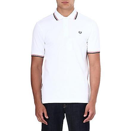 FRED PERRY Classic twin-tip polo shirt (White