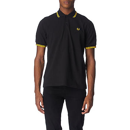 FRED PERRY Twin–tipped polo shirt (Black/gold