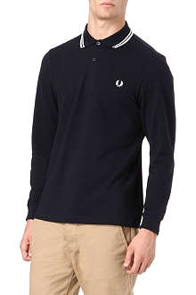 FRED PERRY Long-sleeve twin-tipped polo shirt