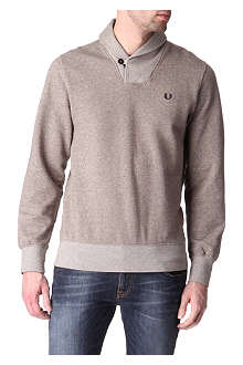FRED PERRY Shawl-collar sweatshirt