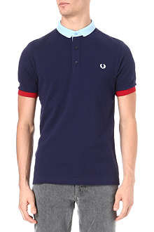 FRED PERRY Contrast-collar polo shirt