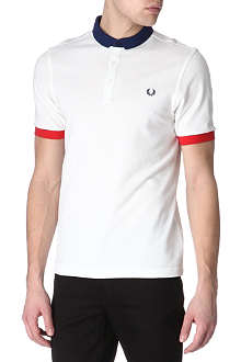 FRED PERRY Slim-fit block-colour polo shirt