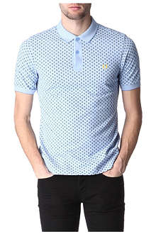 FRED PERRY Slim fit paisley polo shirt