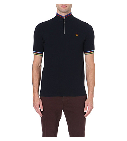 FRED PERRY Champion tipped polo shirt (Navy
