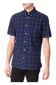 FRED PERRY Checked short-sleeved shirt