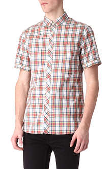 FRED PERRY Sun-faded tartan shirt