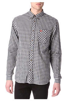 FRED PERRY Gingham single cuff shirt
