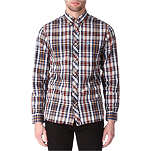 FRED PERRY Madras single cuff shirt