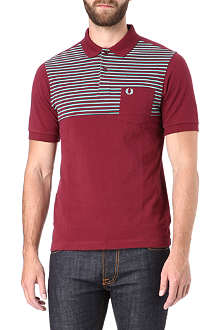 FRED PERRY Half stripe polo shirt