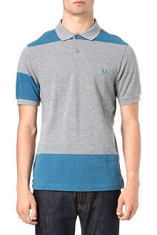 FRED PERRY Bold-stripe polo shirt