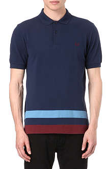 FRED PERRY Striped-hem polo shirt