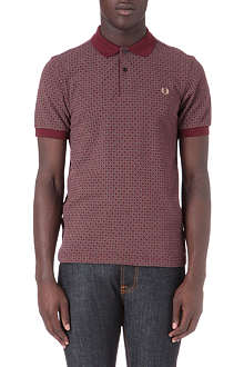 FRED PERRY Circle print polo shirt
