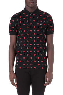 FRED PERRY All-over circle print polo shirt