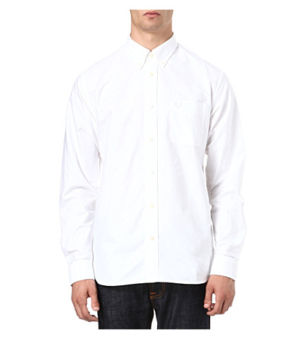 FRED PERRY Classic Oxford shirt (White