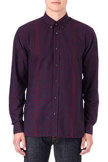 FRED PERRY Gingham tipped shirt