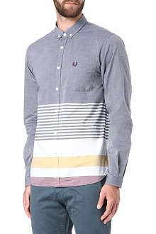 FRED PERRY Placement striped shirt