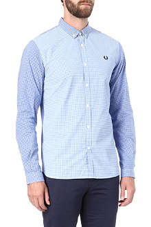 FRED PERRY Slim-fit gingham shirt