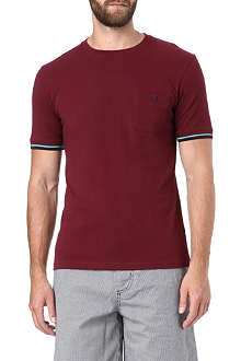 FRED PERRY Cotton-piqué t-shirt