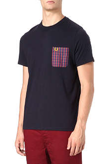 FRED PERRY Woven-pocket t-shirt