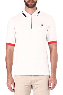 FRED PERRY Contrast cuff cycling shirt
