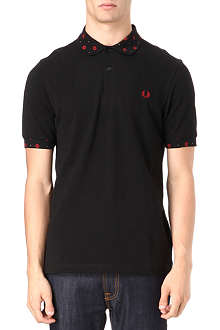 FRED PERRY Rose-collar polo shirt