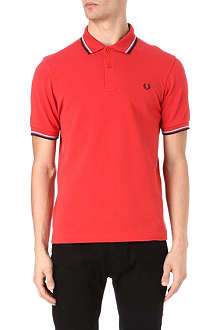 FRED PERRY Slim-fit twin tip polo shirt