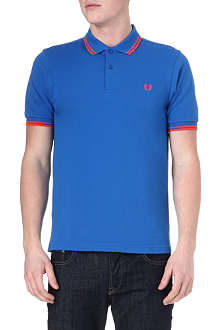FRED PERRY Slim-fit twin-tip polo shirt